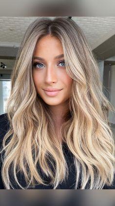 Medium Blonde Hair, Blonde Hair Shades, Blonde Hair Looks, Blonde Long Hair Cuts, Dirty Blonde Hair Ashy, Brownish Blonde Hair Color, Long Bronde Hair, Blonde Hair For Cool Skin Tones, Long Blonde Hairstyles