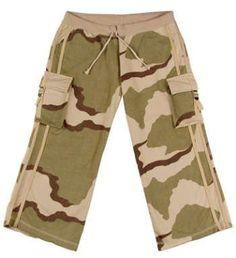 Womens Camouflage Capri Sweatpants Desert Camo ANS. $19.80