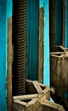 Turquoise machinery | Cropping Reality by Ula Kapala