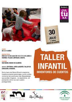 Taller infantil Inventores de Cuentos (dirigido a niñ@s de 5 a 10 años. 30 de julio a las 11 horas) #MuseodeAlmería