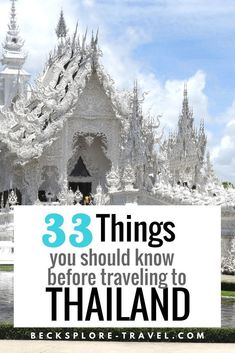 : 33 things you should know before traveling to thailand: pin 2 Heading to Thailand for the first time? Awesome, Thailand is great! Check out 33 things you should know before traveling to Thailand. 10 Days In Thailand, Thailand Vacation, Thailand Honeymoon, Thailand Travel Guide, Visit Thailand, Bangkok Thailand, Thailand Resorts, Thailand Tourism, Krabi Thailand