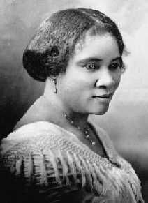 Madame C.J. Walker: 1867-1919; Sarah Breedlove, known as Madam C. J. Walker, was an American entrepreneur and philanthropist, regarded as the first female self-made millionaire in America. She made her fortune by developing and marketing a successful line of beauty and hair products for black women under the company she founded, Madam C. J. Walker Manufacturing Company.