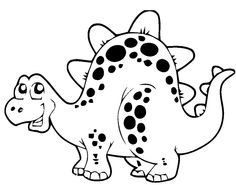 Dinosaur Coloring Page for Kids Wallpaper - http://backgroundwallpapers.co/dinosaur-coloring-page-for-kids-wallpaper/