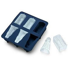 Doctor Who Ice Cube Tray - ok, so it's an ice cube tray, but I'm thinking chocolate, JELL-O, cupcakes...