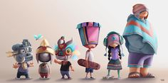 Characters 4 on Behance