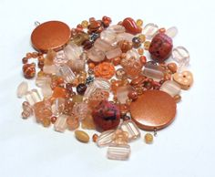 GRAB BAG with 2.7 Oz of Mixed Beads in Shades of by BeadsFromHaven, $3.72