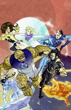 Fantastic Four & The X-Men by Pasqual Ferry *