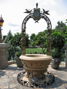 Cinderella's Wishing Well @ Walt Disney World's Magic Kingdom. This is where my husband purposed to me at. <3