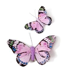 Image of Monarch Butterfly Clips - Pink