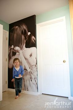 I would love to have this in my girl's room. . .one of all three of them
