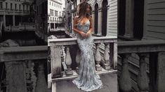Sexy Mermaid V-neck Gray Long Prom Dresses For Teenagers - Millybridal.org