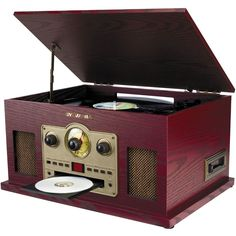Sylvania - Stereo Audio System - Brown