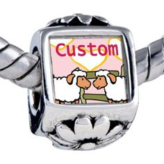 Pugster Custom White Sheep Photo Flower European Beads Fits Pandora Charm Bracelet Pugster. $12.49. Size (mm): 8.08*12.2*7.51. Weight (gram): 3.5. Color: red,white,green,brown,yellow,pink. Metal: base metal