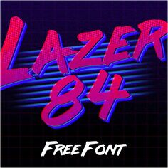 Lazer 84 is a retro style brush font inspired in 80's.This font include numbres, simbols and accents.FREE FOR USE!