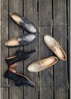 glitter oxfords