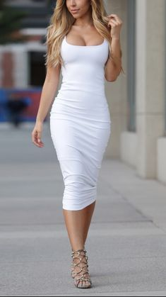 White bodycon dress...Check out https://openlove101.com/