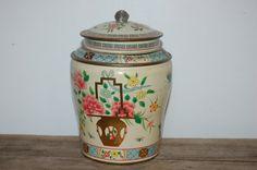 Vintage Baret Ware Tin Art Grace English Canister by JunkyardElves