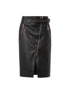 $898, Black Leather Pencil Skirt: Jason Wu Zip Front Leather Pencil Skirt. Sold by MATCHESFASHION.COM. Click for more info: https://lookastic.com/women/shop_items/90835/redirect
