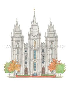 How beautiful this temple is. So excited to finally offer the Salt Lake Temple in my shop! This print is offered in an 8x10 or the 11x14 and also