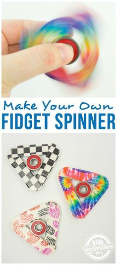 How to Make a Fidget Spinner from craft sticks! So easy and so much fun! This kid-friendly craft is perfect to make your own fidget spinner and customize it with duct tape. #pokemongotricks