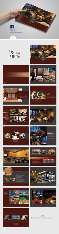 Hotel Brochure by tujuhbenua on @creativemarket