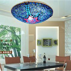 Tiffany Blue Glass Bedroom Ceiling Lamp Cute Kids Room Ceiling Lamp Mosaics Kitchen Ceiling Lamp