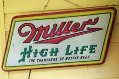 Vintage 1950s Miller Beer Light Up 2-sided Advertising Sign by retrowarehouse, $65.00