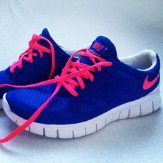 blue nike sneakers