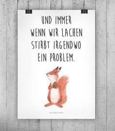 Spruch Motivation als Wanddeko für Zuhause mit süßer Illustration / illustrated squirrel and motivational saying made by small-world via DaWanda.com - #als #DaWandacom #für #illustrated #Illustration #mit #Motivation #motivational #smallworld #spruch #squirrel #süßer #WandDeko #zuhause