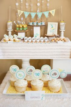 Bundle Up, Baby! Winter Baby Shower {Part 2 - Mini Desserts + Hot Cocoa Bar} // Hostess with the Mostess®