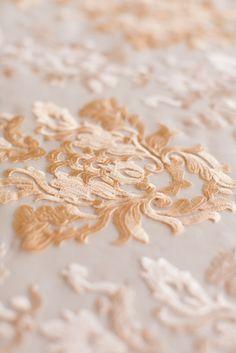 gold embroidery wedding detail @ivyrobinson @corbin