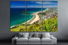 Beach with Blue Sky Landscape, Tauranga City, North Island, New Zealand №2847