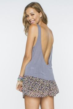 Brandy Melville Brienne Open Back Tank