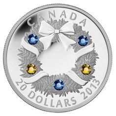 Royal Canadian Mint $20 2013 Fine Silver Coin - Holiday Wreath $114.95