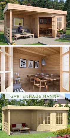 Gartenhaus Modell Garden house model The modern wooden garden house with pitched roof. Summer House Garden, Backyard House, Backyard Sheds, Backyard Patio Designs, Backyard Landscaping, Home And Garden, Patio Ideas, Gazebo Ideas, Garden Buildings
