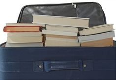 33+ Helpful Moving Tips Everyone Should Know ~ Use your rolling luggage for heavy items like books!