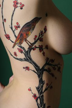 tree bird tattoo