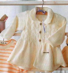 Вязание: пальто для девочки