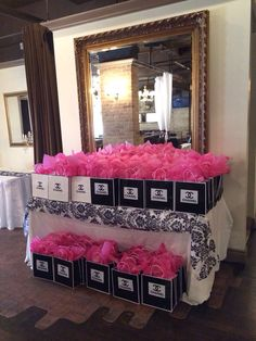 Pink bridal shower theme coco chanel Ideas for 2019 Chanel Party, Chanel Birthday Party, 50th Birthday Party, Birthday Ideas, Chanel Bridal Shower, Chanel Decor, Paris Party, Sweet 16 Parties, Marie