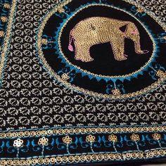 Black & blue elephant handbag