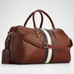 leather weekender bag from RedEnvelope.com #giftguide