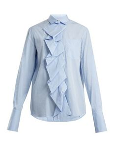Ruffled-panel cotton-poplin shirt   | Summa | MATCHESFASHION.COM