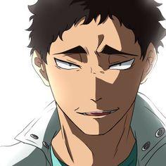 Matsukawa Issei >////////< don't look at me like that Oikawa, Kageyama, Haikyuu Fanart, Haikyuu Anime, Haikyuu Characters, Anime Characters, Matsukawa Issei, Yandere Girl, Wise Monkeys