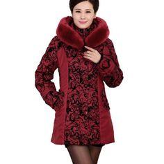 Plus Size winter jacket women fashion Warm cotton jacket Slim fur collar hooded winter coat women parka