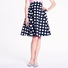 kate spade | checkered sadie skirt