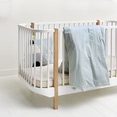 Oliver Furniture Baby  Und Kinderbett U0027Woodu0027 Eiche/weiß 70x140cm   Im  Fantasyroom
