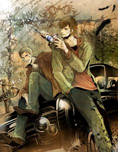 Tags: Anime, Fanart, Pixiv, Supernatural, Dean Winchester