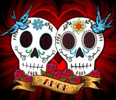 Love Skulls Drawing by Tammy Wetzel - Love Skulls Fine Art Prints and Posters for Sale