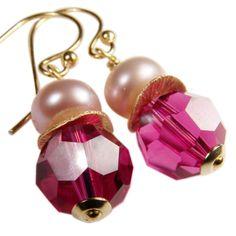 Pretty in Pink! Klassiker mit Perle handgearbeitet von Perlotte Schmuck www.perlotte.de #pink #prettyinpink