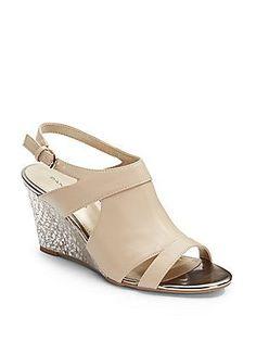 Tapa Shimmer Wedge Sandals saks 39 99